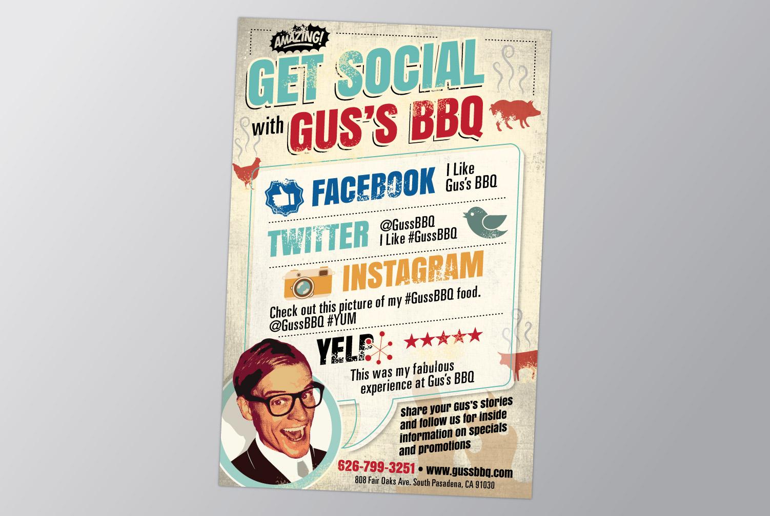 Gus's BBQ Postcard Promo